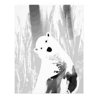 Unique Black and White Polar Bear Design Letterhead