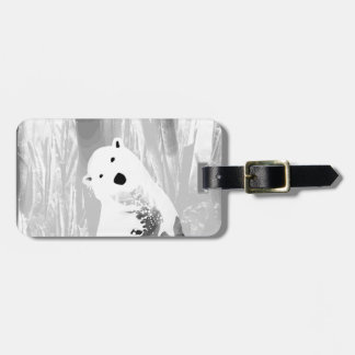 Unique Black and White Polar Bear Design Luggage Tag
