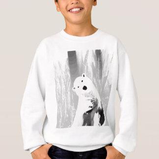 Unique Black and White Polar Bear Design Sweatshirt