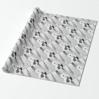 Unique Black and White Polar Bear Design Wrapping Paper