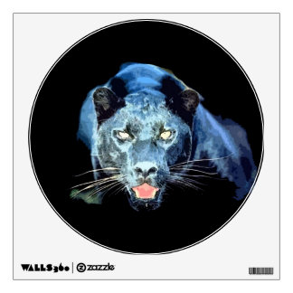 Unique Black Panther Jaguar Circle Wall Decal