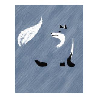 Unique Blue Fox Design Letterhead