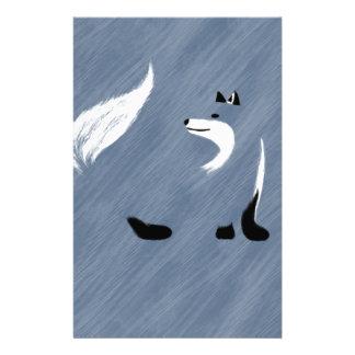 Unique Blue Fox Design Stationery Paper