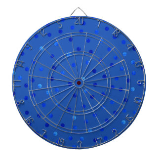 Unique Blue Polka Dots Pattern Dartboard