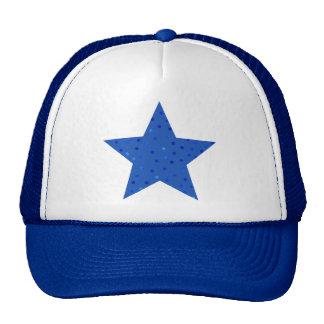 Unique Blue Polka Dots Pattern Trucker Hat