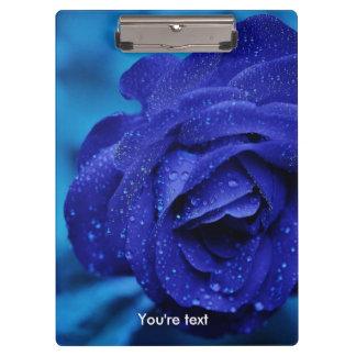 Unique Blue rose flower Clipboard