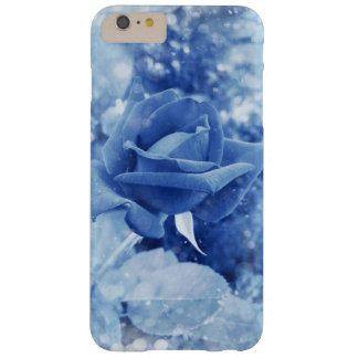 Unique blue rose in snow barely there iPhone 6 plus case