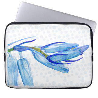 "Unique Bluebell Painting 13"" Laptop Sleeve"