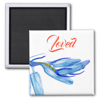 Unique Bluebell Watercolour Painting Magnet