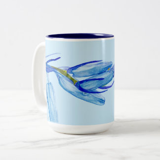 Unique Bluebell Woods Watercolour Painting Mug