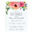 Unique Boho Floral Baby Shower Invitation