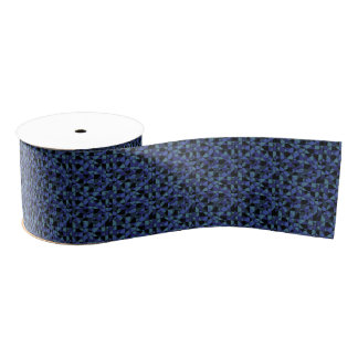 Unique Bold Hip Geometric Blue Cyan Gray Black Grosgrain Ribbon
