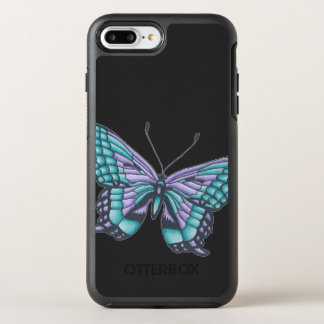 Unique Butterfly Illustration OtterBox Symmetry iPhone 8 Plus/7 Plus Case