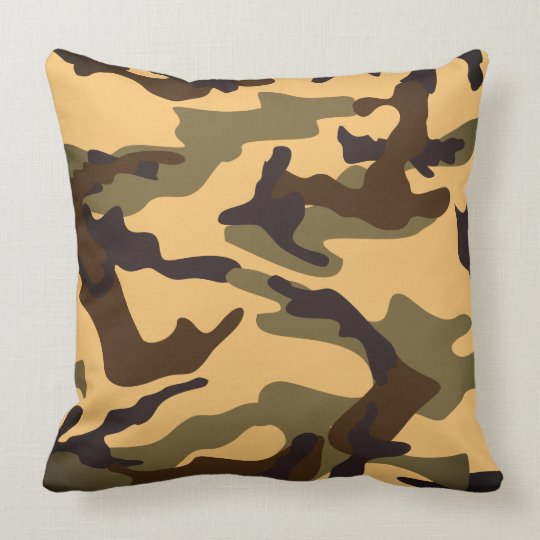 unique camo print throw pillow