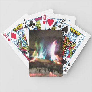 Unique Campfire Flames Of Color Bicycle Playing Cards