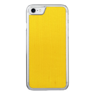 Unique Canary Yellow. Simple Solid Plain Color Carved iPhone 7 Case