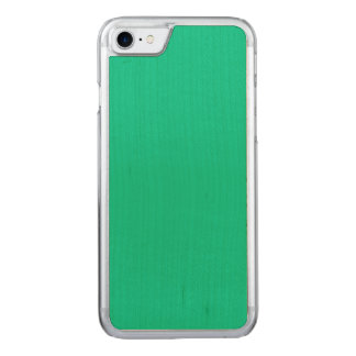 Unique Caribbean Green. Simple Solid Plain Color Carved iPhone 7 Case