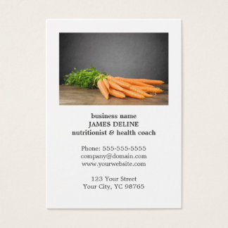 Unique Carrots Health Organic Farm Business Card