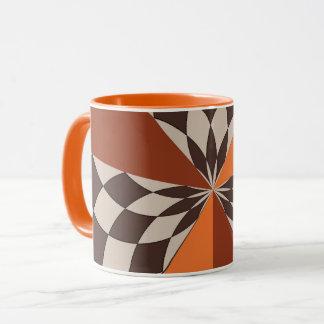 Unique checker design mug