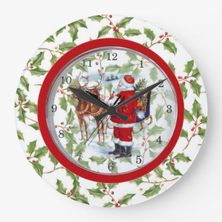 Unique Christmas Clock Santa in Clock