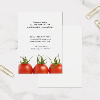 Unique Clean Tomato Health Nutritionist Chef Business Card