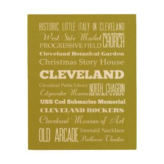 Unique Cleveland, Ohio Gift Idea Wood Print