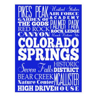 Unique Colorado Springs, Colorado Gift Idea Postcard
