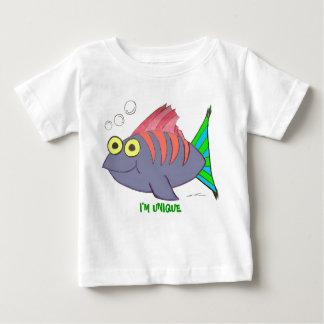 Unique Colorful Cartoon Fish with Bubbles Tshirt