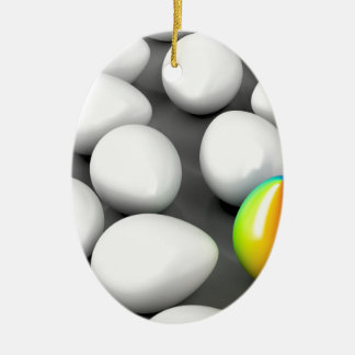 Unique colorful egg ceramic ornament