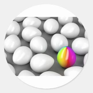 Unique colorful egg classic round sticker