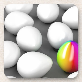 Unique colorful egg coaster