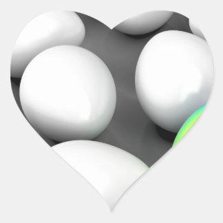Unique colorful egg heart sticker