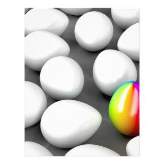 Unique colorful egg letterhead