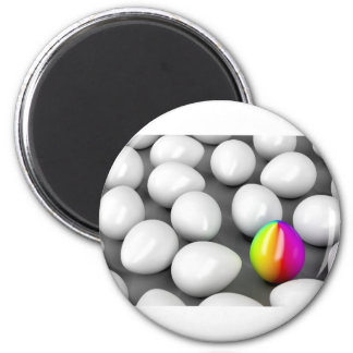 Unique colorful egg magnet