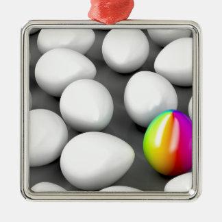 Unique colorful egg metal ornament