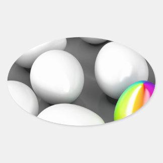 Unique colorful egg oval sticker