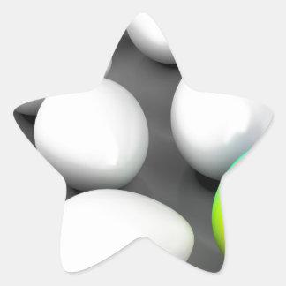 Unique colorful egg star sticker
