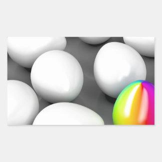 Unique colorful egg sticker