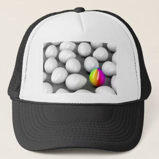 Unique colorful egg trucker hat