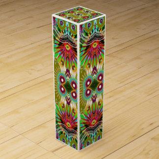 Unique Colorful Jewel Graphics USA Wine Gift Box