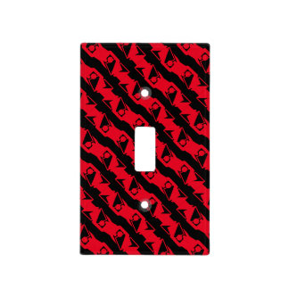 Unique & Cool Black & Bright Red Modern Pattern Light Switch Cover