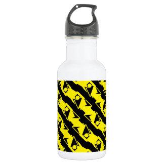 Unique & Cool Black & Bright Yellow Modern Pattern 532 Ml Water Bottle