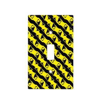 Unique & Cool Black & Bright Yellow Modern Pattern Light Switch Cover