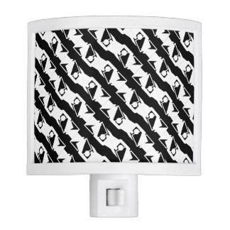 Unique & Cool Black & White Modern Pattern Nite Lite