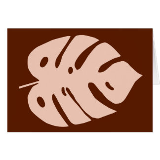 Unique Copper Monstera Tropical Plant Design Card