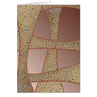 Unique copper polka dots waves design card