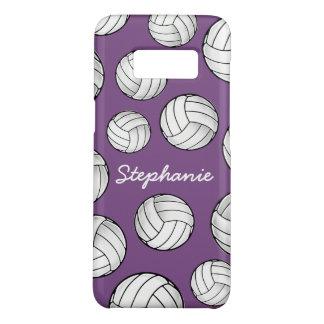 Unique Custom Name Volleyball Purple Case-Mate Samsung Galaxy S8 Case