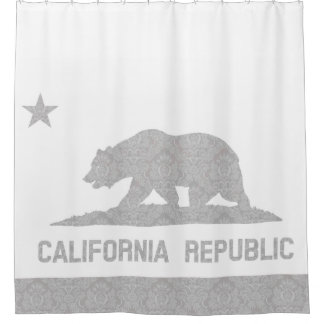 Unique Damask Pattern Flag of California