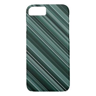 Unique Dark Emerald Green Stripes iPhone 7 Case
