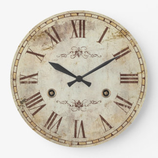 Unique Decorative Roman Numeral Vintage Rustic Large Clock